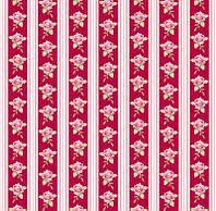 Ткань для рукоделия Tilda Rose Stripe Red, 480171