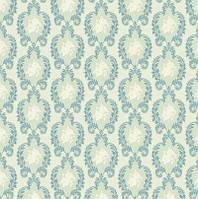 Ткань для рукоделия Tilda Vintage Ornament Bluegreen, 480181