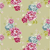 Ткань для рукоделия Tilda Flowerpatch Khaki, 480278