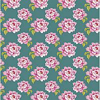 Ткань для рукоделия Tilda Peony Teal, 480283