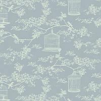 Ткань для рукоделия Tilda Birdcage T C Blue, 480416