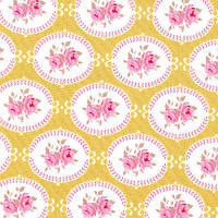 Ткань для рукоделия Tilda Oval Rose Green, 480012