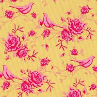 Ткань для рукоделия Tilda Rosebird Pink on Green, 480016