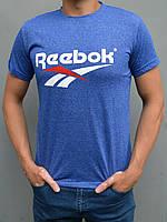 Мужская спортивная футболка Reebok (Рибок) - размеры 44-54, ярко-синяя