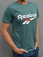 Мужская спортивная футболка Reebok (Рибок) - размеры 44-54, зеленая