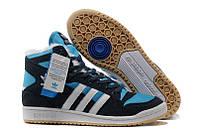 Кроссовки с мехом Adidas Winter Originals мужские синие с черным
