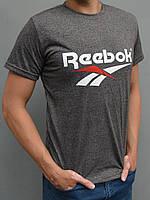 Мужская спортивная футболка Reebok (Рибок) - размеры 44-54, коричневая