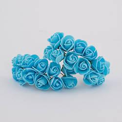 Троянди з фоамирана розміром діаметром 2,5 см