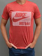 Мужская футболка Найк (Nike) just do it (размеры 44-54) - красная
