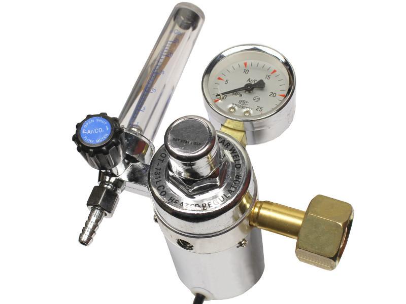 Редуктор с подогревом для углекислоты и аргона AC 220 Вольт ProWeld YQAr-731L