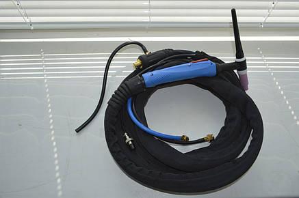 Аргоновая горелка с водяным охлаждением WR-18, (байонетный разъем 35-50, 4 метра), фото 2