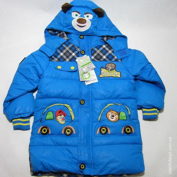 Куртка  длинная 'Мишка на Капюшоне'3836 Осень