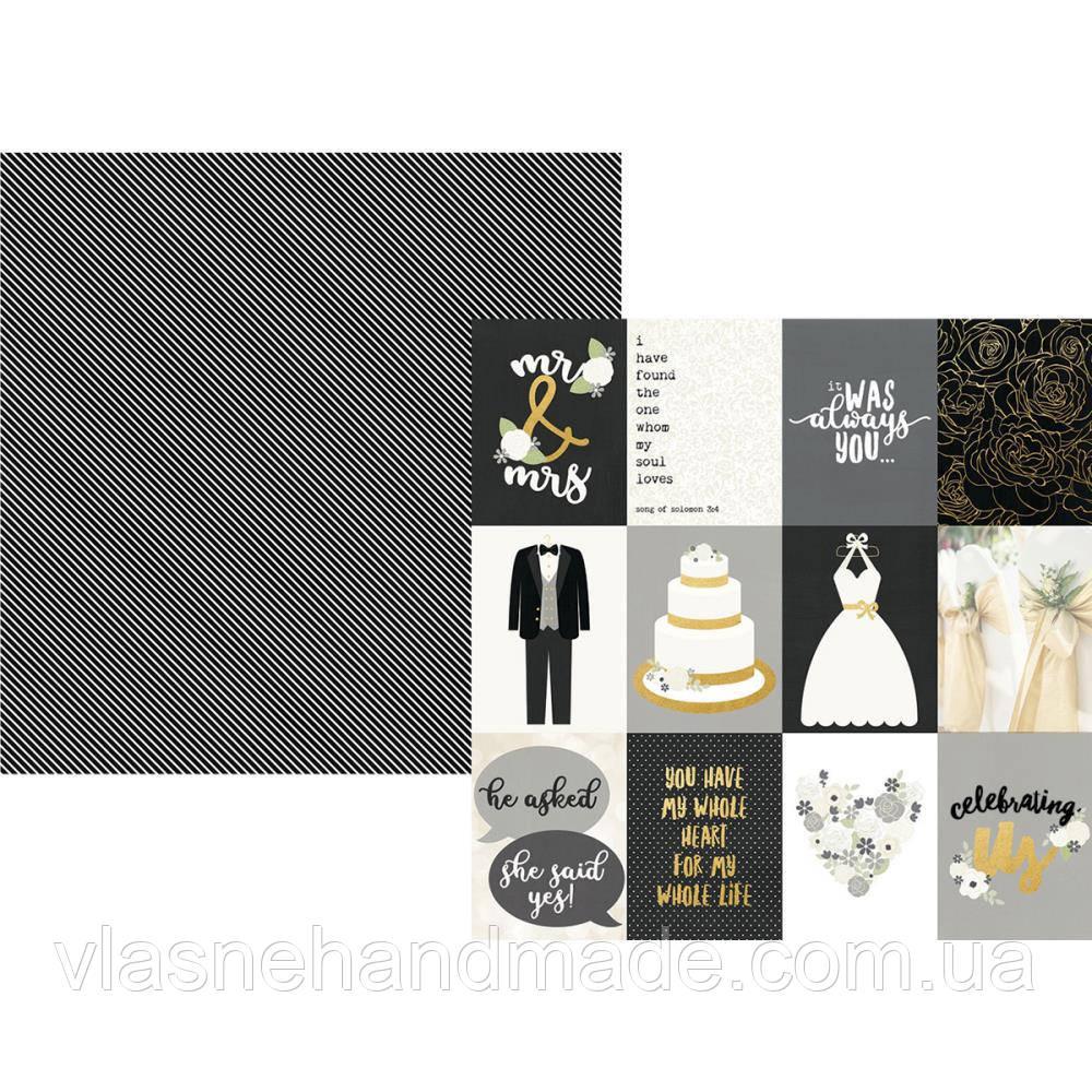 Папір з фольгуванням - 8х10 Elements - Always & Forever - Simple Stories - 30x30