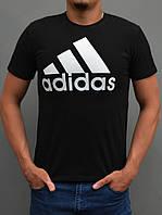 Остались размеры: 44,46. Мужская спортивная футболка Adidas (адидас) - чёрная