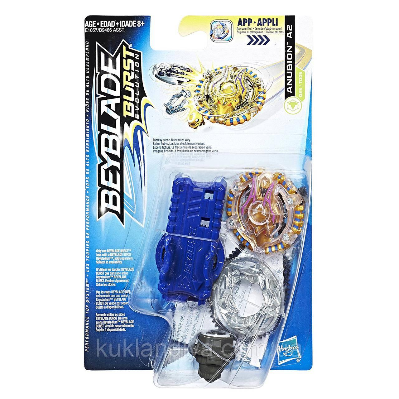Волчок Anubion A2 Beyblade Burst Evolution E1057/B9486 с пусковым устройством