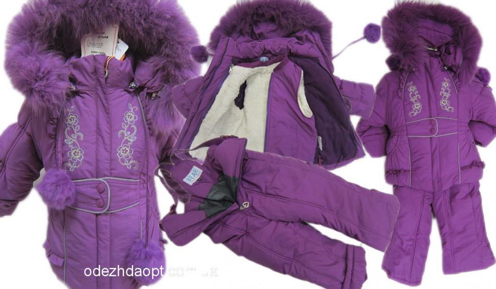 Куртка+комбез Вышивка-Зима 23-8018 Фиолет