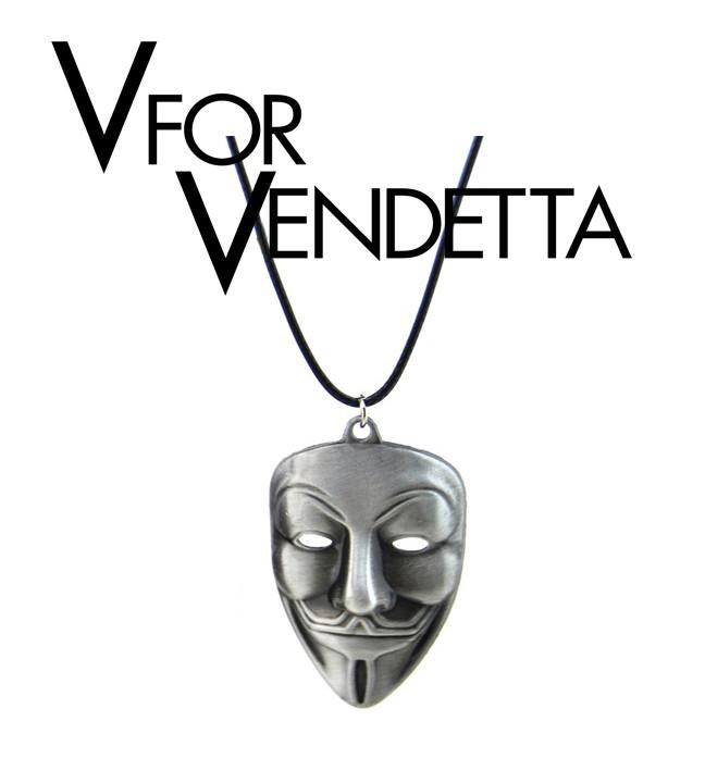 Кулон Маска Гая Фокса Анонимус V - значит Вендетта