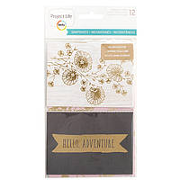 Карточки - Snapshots - Project Life - Gold Foil
