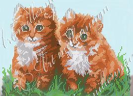 """Схема для вышивки бисером  W-249 """"Котята"""""""