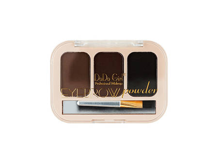 003BP Тени DoDo Eyebrow powder ( 3 цв - овал ) В наличии №1,2,3