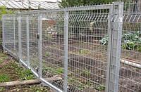 Ворота распашные с замком и ручкой (2.03х2,5 м) в ПВХ покрытии Фрунзе