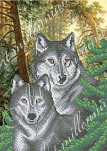 """Схема для вышивки бисером  W-283 """"Волки"""""""