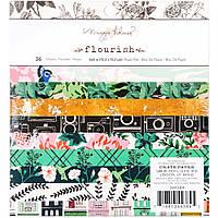 Набір паперу -  Flourish - Maggie Holmes - 15х15 Ціна за пів набор! (18 л.)
