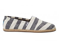 Мужские TOMS Black and White Stripe Men's Classics, фото 1