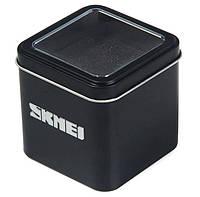 Коробочка Skmei для наручных часов, черная металлическая