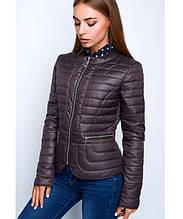 Куртка демисезонная женская № 32 (р. 40-50) Шоколадный
