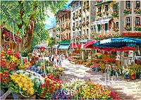 """Схема для вышивки бисером W-349 """"Цветочный рынок"""""""