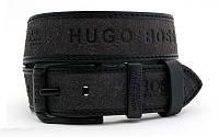 Ремень мужской кожаный HUGO BOSS ширина 45 мм. реплика 930585