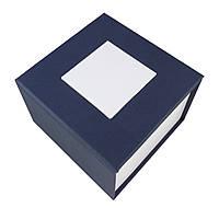 Синяя подарочная картонная коробка для наручных часов