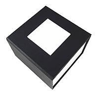 Черная подарочная картонная коробка для наручных часов