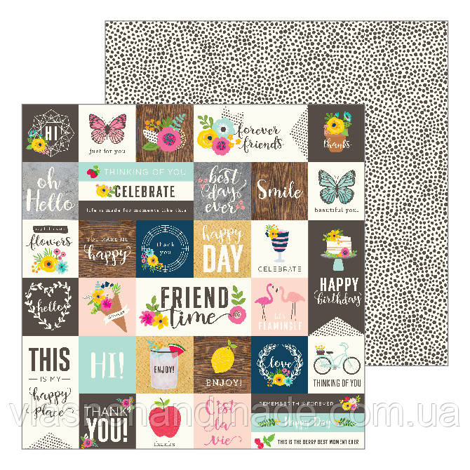 Папір - From Me To You - Patio Party - Jen Hadfield - Pebbles - 30x30