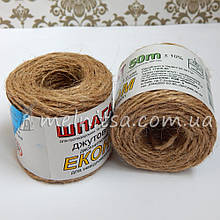 Веревка джутовая (шпагат), 1 мм (50 м)