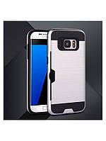 Чехол со слотом для Samsung Galaxy S7 серебристый