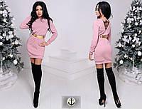 Платье красивое из ангоры розовое модель 24915244