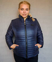 Куртка демисезонная женская № 5/1 (р. 50-56) Синий