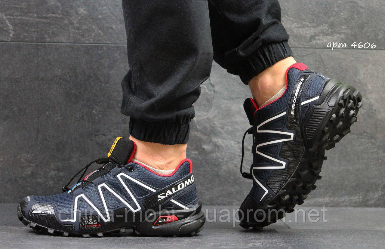 Кроссовки Salomon Speedcross 3 (темно синие с красным) мужские кроссовки  саломон 4606 - Интернет f66fb8ba2e6c8