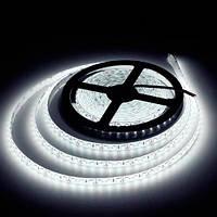 LED лента 5м SMD 2835 / 120 LED на метр/ IP65 влагозащ/6Lm/led /9,6W 12V, хол бел DoublePCB тонк