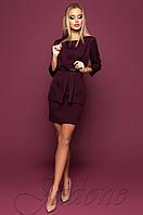 Офисное платье цвета слива Эвелин Jadone 42-48 размеры