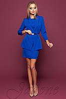 Офисное платье цвета электрик Эвелин Jadone 42-48 размеры
