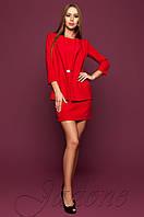 Офисное красное платье цвета Эвелин Jadone 42-48 размеры
