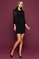 Офисное черное платье цвета Эвелин Jadone 42-48 размеры