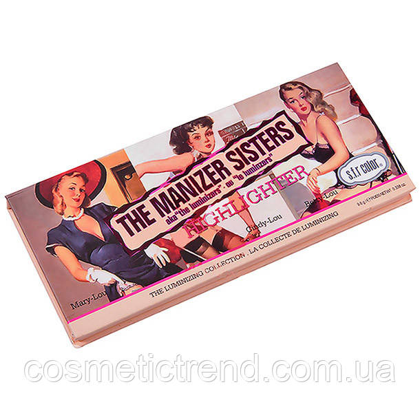 The Manizer Sisters Makeup Highlighter набор хайлайтеров для лица и тела 3х1 6760-01