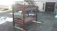 Двухэтажная деревянная кровать Богатырь