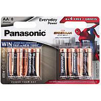 Батарейка PANASONIC AA LR06 Everyday Power Alkaline Spider Man * 8 (LR6REE/8B4FSM)