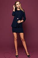 Офисное темно-синее платье цвета Эвелин Jadone 42-48 размеры