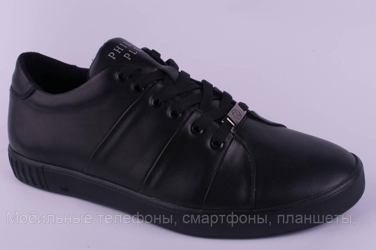 546ec1a965ad0 Мужские кроссовки Philipp Plein кожаные черные 40, 41, 42, 43, 44 ...